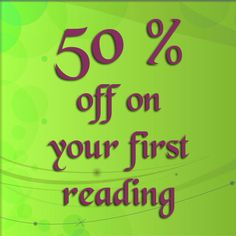 50 % off your first reading