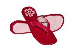nike red flip flop
