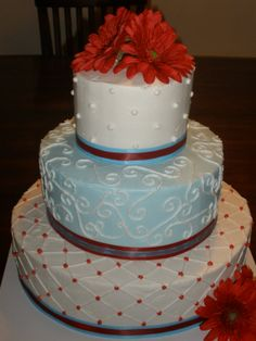 The Bridal Cake: Red, White And Blue Wedding Cakes