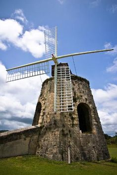 St. Croix, Virgin Islands. Windmill was once used to grind sugar cane on the Whim Plantation in Fredriksted__Photos by Frommer's.