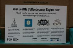 July Bean Box Sample Unboxing  BeanBox is a monthly supplier of large and sample size copy from Seattle Roasters.  #beanbox #unboxing #subscriptionbox #fsolife #foreignservice #dubinskystravels #coffee #coffeeaddict #coffeelover #coffeeislife