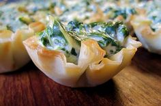 I am thinking these spinich dip bites would be perfect for Super Bowl :) Yum!