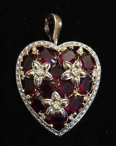 New-Nolan-Miller-Ruby-Red-Heart-Pin-Brooch-Pendant