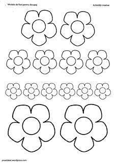 Imagini pentru floricele de decupat si colorat