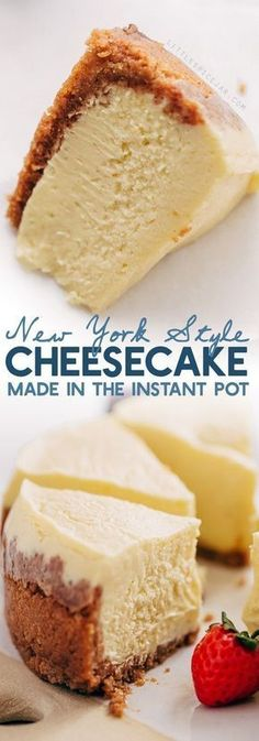 New York-Style Instant Pot Cheesecake Recipe - GIRLS DISHES