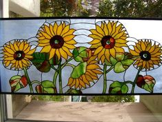 Sunflowers - Delphi Stained Glass