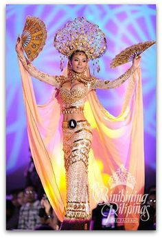 Binibining Pilipinas 2014 Specials: The 10 Best National Costumes! Philippines Dress, Philippines People, Philippines Culture, Philippines Fashion, Tribal Costume, Folk Costume, Costumes, Vietnam Costume, Filipiniana Dress