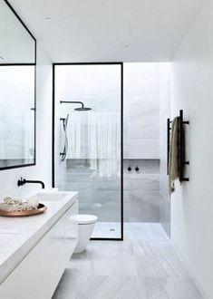 Top Modern Bathroom Shower Ideas For Small Bathroom - Page 68 of 169 Minimalist Bathroom Design, Bathroom Layout, Modern Bathroom Design, Bathroom Interior Design, Minimalist Home, Bathroom Ideas, Bathroom Designs, Shower Ideas, Bathroom Organization