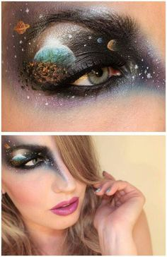 Again star galaxy planet eye make up