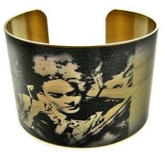 Fancy - Frida Kahlo Vintage Style Brass Cuff Bracelet