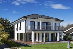 Stadtvilla modern mit erker  Montana - #Einfamilienhaus von RENSCH-HAUS GmbH | Haus XXL #modern ...