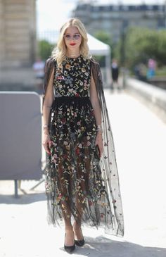 Chiara Ferragni attends the Christian Dior Haute Couture Fall/Winter 20172018 show as part of Haute Couture Paris Fashion Week on July 3 2017 in...
