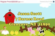 SALE Address Labels 2x3  60 Printed Labels by KIDINVITES on Etsy, $20.00