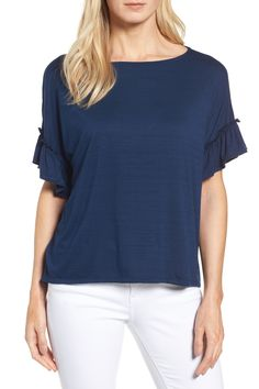 Halogen -  Ruffle Sleeve Top (Regular & Petite) is now 67% off. Free Shipping on orders over $100.