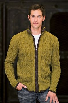 "Ravelry: Nottingham Sweater pattern by Marlaina ""Marly"" Bird, Green Mountain Spinnery Wonderfully Woolly or Mountain Mohair Sweater Knitting Patterns, Knitting Designs, Casual Sweaters, Cable Knit Sweaters, Cardigans, Inspiration Mode, Sweater Design, Outerwear Jackets, Men Sweater"