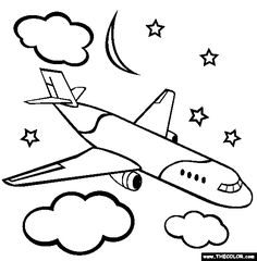 airplane coloring pages airplanes pictures for kids viewing