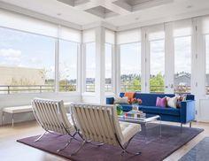 Modern Mercer Island home showcases vivacious color palette