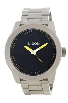 Nixon Men's Corporal Grand Prix Bracelet Watch by Nixon on @HauteLook