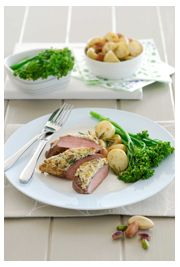Lamb backstrap with pistachio and Brazil nut crust (GF)