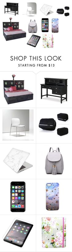 """""""Dorm Room"""" by lacey-h001 ❤ liked on Polyvore featuring DutchCrafters, Magnussen Home, Recover, Off-White, Nikki Strange, ZAGG and Accessorize"""