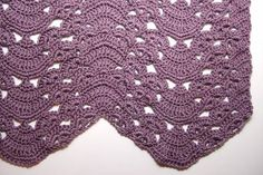 Fans and Pansies Ripple Blanket - Afghans Crocheted My Patterns - - Mama's Stitchery Projects