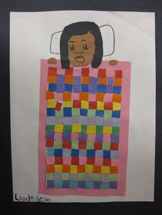 A cute way to incorporate pattern or weaving into some type of portrait lesson.