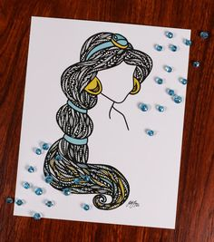 Zentangle Whole New World by DesignsByBlynn on Etsy
