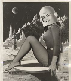 Miss Space 1959. Twenty-year-old (at the time) Suzanne Adams from Dallas, Texas.