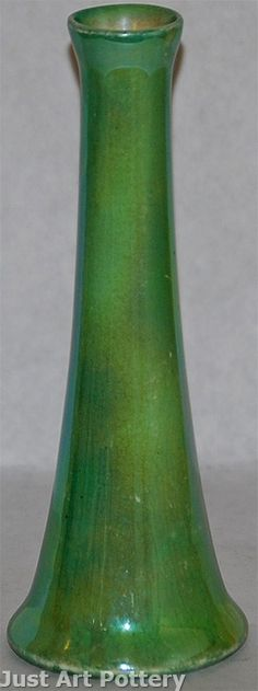 Weller Pottery Lustre Green Bud Vae from Just Art Pottery