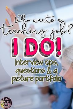 Tips to Rock Your Elementary Teacher Interview Great for teachers looking for a job! Includes information about getting an elementary teaching position with Interview questions, [. Interview Tips For Teachers, Teaching Interview Questions, Teacher Job Interview, Teacher Interviews, Jobs For Teachers, Teacher Tips, Teacher Stuff, Teachers Toolbox, Job Interviews