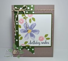 Garden in Bloom for SIP1 by Chris Slogar - Cards and Paper Crafts at Splitcoaststampers