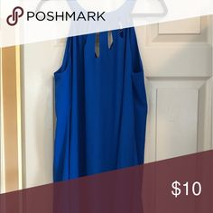 Summer tank dress Cute detailed at top summer royal blue dress NWT (missing button at top back however button is attached in envelope) Dresses Mini
