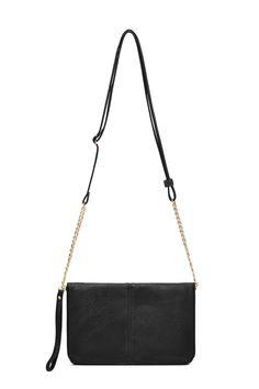 Black Flap X-Body Bag