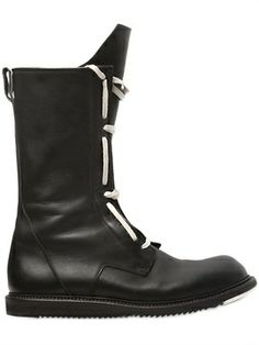 Runway Army Leather High Boots on shopstyle.com