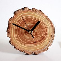 Natural Brief Solid Wood Small Table Clock Belt Natural Brief Solid Wood Small Table Clock Belt Led Wall Clock, Clock Art, Diy Clock, Clock Decor, Wall Clock Design, Wood Clocks, Small Tables, Wood Wall Art, Solid Wood