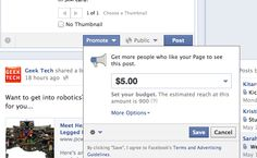 The lowdown on Facebook's new Paid Status Promotion Platform (sponsored posts to fans) from @PCWorld.