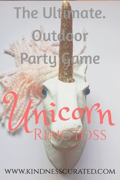 The BEST most magical and mystical party game ever and of course it involves Unicorns! Its perfect for any outdoor spring and summer get together! One of the best backyard DIY games ever! And you can even use the Unicorn as a hobby horse for the kids! You aren't going to want to miss this one! #unicorn #unicorns #backyardgames #diy