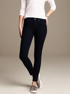 Dark Indigo High-Rise Skinny Ankle Jean Product Image