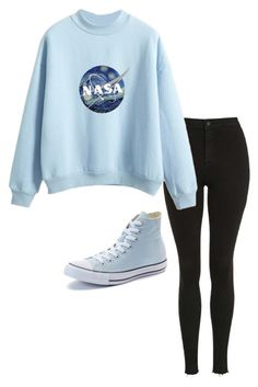 """""""Untitled #743"""" by pandasdream ❤ liked on Polyvore featuring Topshop and Converse"""