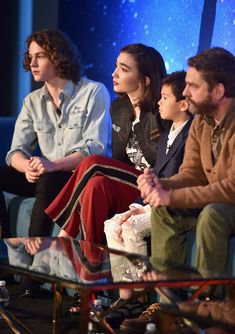 Rowan Blanchard Levi Miller Photos - (L-R) Actors Levi Miller, Rowan Blanchard, Deric McCabe and Zach Galifianakis participate in the press conference for Disney's 'A Wrinkle in Time' in Hollywood, CA on March 25, 2018 - Rowan Blanchard and Levi Miller Photos - 12 of 15