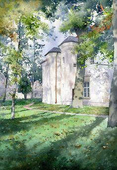 Pałac w Chrzęsnem 38x56 cm faza 3