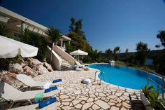 Corfu hotel Bella Mare is a four-star hotel in the wonderful island of Corfu Greece, in Kassiopi village, next to Avlaki beach.It is ones of the best family friendly corfu hotels. If you are looking for one of the best Corfu hotels, Bella mare is for you. Corfu Hotels, Green Scenery, Corfu Island, Corfu Greece, Luxury Villa, Outdoor Decor, Luxury Condo