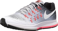 Nike Air Zoom Pegasus 33 Wolf GreyWhiteBlackHot Punch Womens Running Shoes *** See this great product.(This is an Amazon affiliate link)