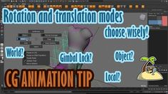 Choose the right translation and rotation modes! 3D animation tip by Animator Island