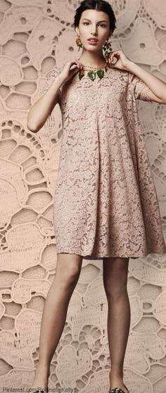 ~Dolce & Gabanna | Blush Dress | The House of Beccaria#