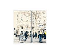 """Postcard from Paris by Cindy Taylor, 25 x 25"""", Wood Gallery, White, No Mat"""