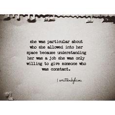 I am particular.