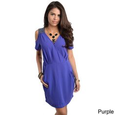 89354db99cf2 Go out in chic, casual style with this solid off-shoulder dress from  Stanzino