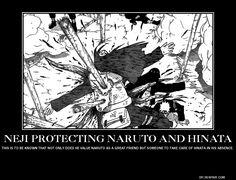 Neji died because he protected Hinata & Naruto. :( how sad..