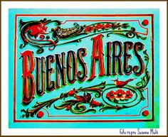 An example of fileteado, a popular decorative technique that started in wagon factories in Buenos Aires at the beginning of the century. Vintage Typography, Typography Fonts, Lettering Design, Hand Lettering, Tango Art, Arte Popular, Chalkboard Art, Vintage Travel, Art Google